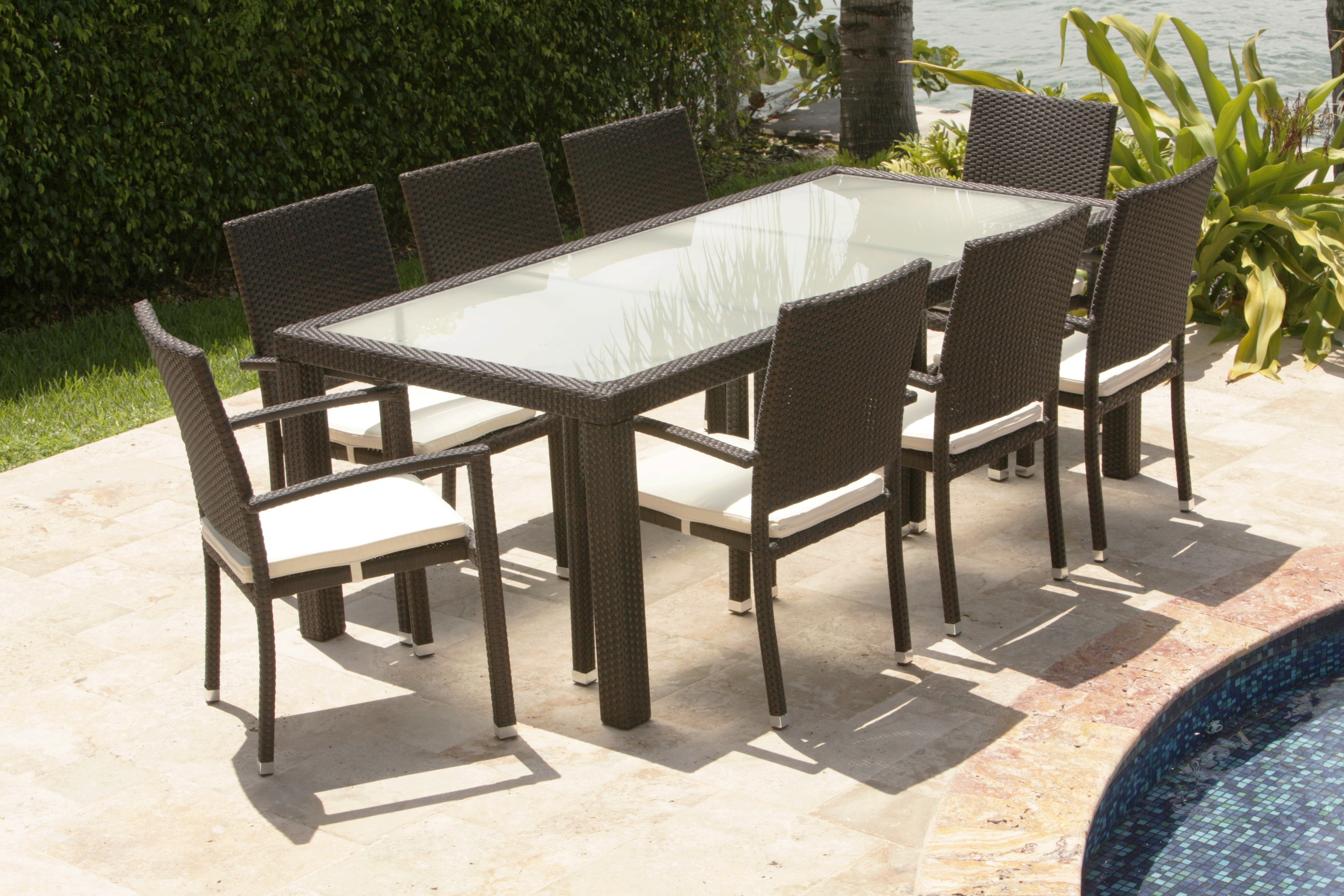 rattan dining table set Products AnJi Great Furniture Co Ltd